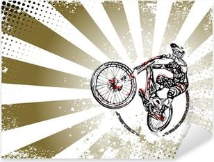 Pixerstick Aufkleber Retro BMX Freestyle Poster Hintergrundp