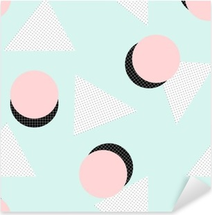 Pixerstick Aufkleber Retro geometrisches Musterp