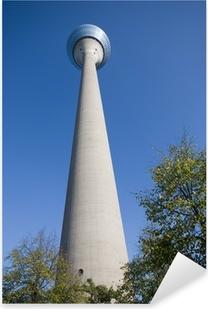 Pixerstick Aufkleber Rheinturm in Düsseldorf (Deutschland, Europa)