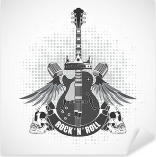 Pixerstick Aufkleber Rock n roll symbolp