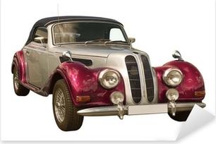 Pixerstick Aufkleber Rosa Oldtimer, Classic Car, Cabriolet