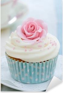 Pixerstick Aufkleber Rose Cupcake