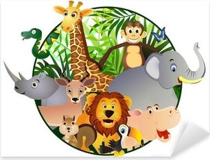 Pixerstick Aufkleber Safari cartoon