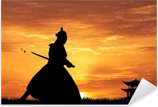 Pixerstick Aufkleber Samurai