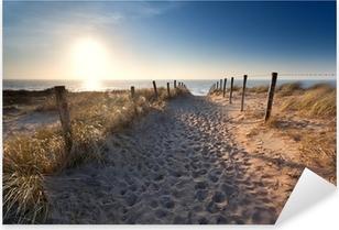 Pixerstick Aufkleber Sand Weg zum Nordseestrand