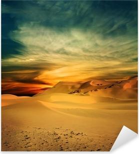 Pixerstick Aufkleber Sandy Wüste bei Sonnenuntergang Zeit