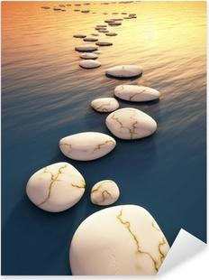 Pixerstick Aufkleber Schritt stones sunset