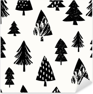 Pixerstick Aufkleber Seamless christmas pattern