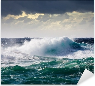 Pixerstick Aufkleber See Waves im Sturm