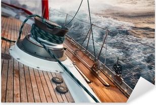 Pixerstick Aufkleber Segelboot unter dem Sturm, Detail an der Windep