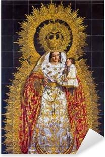 Pixerstick Aufkleber Sevilla - Die Keramikfliesen Madonna