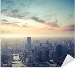 Pixerstick Aufkleber Shanghai in der Abenddämmerungp