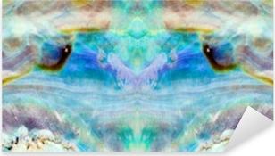 Pixerstick Aufkleber Shiny Perlmutter von Paua oder Abalone Shell Hintergrund