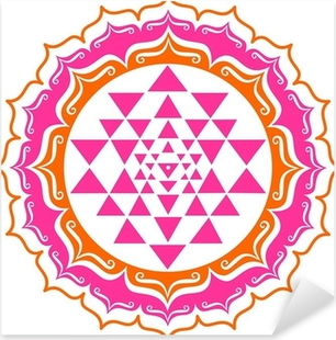 Pixerstick Aufkleber Shri Yantra - Lotus Blüte - Mandalap