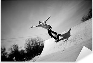 Pixerstick Aufkleber Skateboard-Rampe