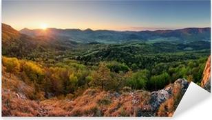 Pixerstick Aufkleber Slowakei Frühlingswald Panorama