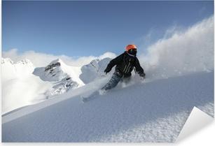 Pixerstick Aufkleber Snowboard Freerider