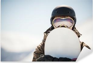 Pixerstick Aufkleber Snowboard-und Snowboarderp