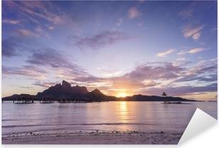 Pixerstick Aufkleber Sonnenuntergang über Bora Borap