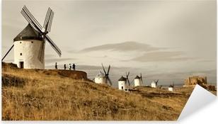Pixerstick Aufkleber Spanische Windmühlen - Consuegra