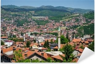 Pixerstick Aufkleber Stadtansicht von Sarajevop
