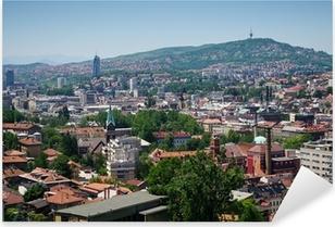 Pixerstick Aufkleber Stadtansicht von Sarajevo