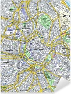 Pixerstick Aufkleber Stadtplan Wien