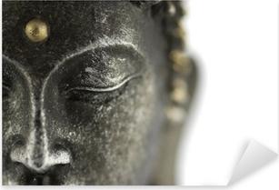 Pixerstick Aufkleber Statue de bouddha sur blancp