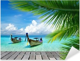 Pixerstick Aufkleber Steg mit Blick auf das tropische Meer