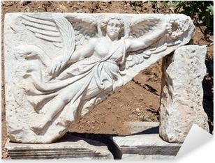 Pixerstick Aufkleber Steinbildhauerei der Göttin Nike bei antiken Ephesus, Türkei