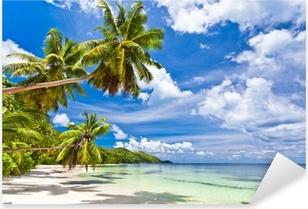 Pixerstick Aufkleber Strand auf den Seychellenp