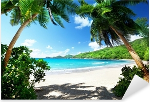 Pixerstick Aufkleber Strand, Insel Mahe, Seychellenp