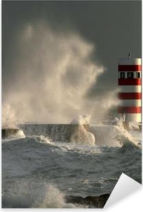 Pixerstick Aufkleber Sturm im Leuchtturm