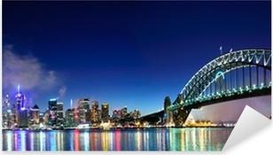Pixerstick Aufkleber Sydney Harbour NYE Fireworks Panoramap