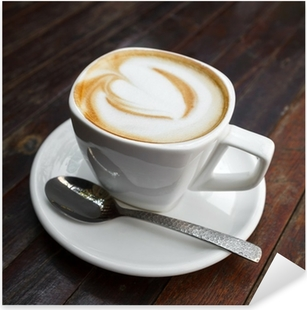 Pixerstick Aufkleber Tasse Latte Kaffee