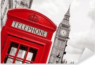 Pixerstick Aufkleber Telefonzelle. London, UKp