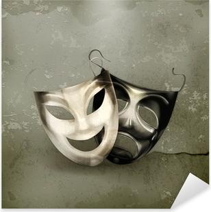 Pixerstick Aufkleber Theater Masken, alten Stil