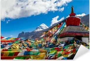 Pixerstick Aufkleber Tibet. Mount Kailash. Südwand.p