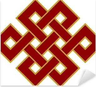 Pixerstick Aufkleber Tibetanischer Endlos Knoten - Glückssymbol