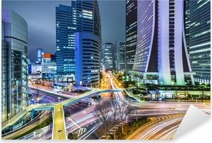 Pixerstick Aufkleber Tokio Japan in West Wolkenkratzerviertel Shinjuku