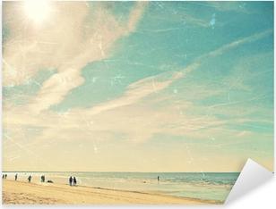 Pixerstick Aufkleber Tropischer Strand Vintage-Hintergrundp