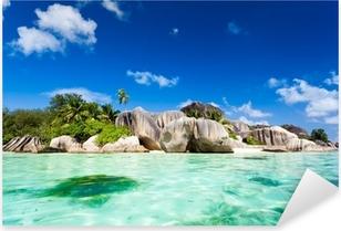 Pixerstick Aufkleber Tropisches Paradies auf den Seychellen