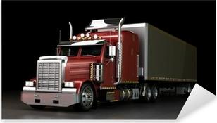 Pixerstick Aufkleber Truck at Nightp