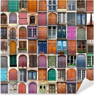 Pixerstick Aufkleber Türen und Fenster Collage
