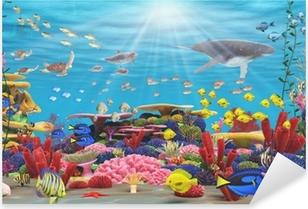 Pixerstick Aufkleber Unterwasser-Paradies