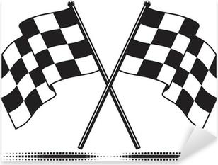 Pixerstick Aufkleber Vector karierten Fahnen - das Ziel erreicht. Gradient kostenlos.p