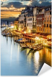 Pixerstick Aufkleber Venezianischer Canal Grande bei Nachtp