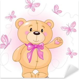 Pixerstick Aufkleber Very cute Teddybär Verzicht hallop