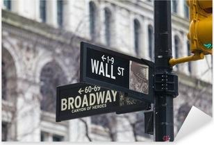 Pixerstick Aufkleber Wall Street. Straßenschild, New York, USA.p