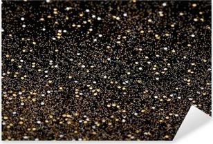 Pixerstick Aufkleber Weihnachten Neujahr Gold Glitter Hintergrund Ferien-Textur